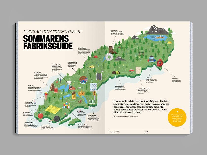 Guide Företagaren David Karlström - Sweden big map